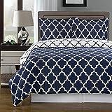 Egyptian Bedding Super Luxurious 100% Egyptian Cotton 3 Piece Meridian Navy Blue California CALIFORNIA KING Size Duvet Cover Set with Pillow Shams