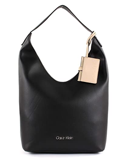 3ebb765fe7 Calvin Klein Tack SML Hobo Black  Amazon.co.uk  Shoes   Bags