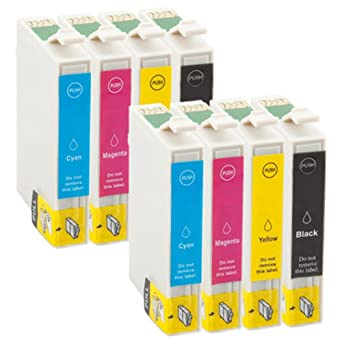 Tian de 8 cartuchos de impresora compatibles para Epson Stylus ...