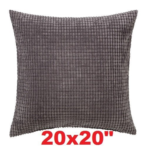 "Ikea Cushion Throw Pillow Cover Gullklocka Gray 20 X 20"" wit"