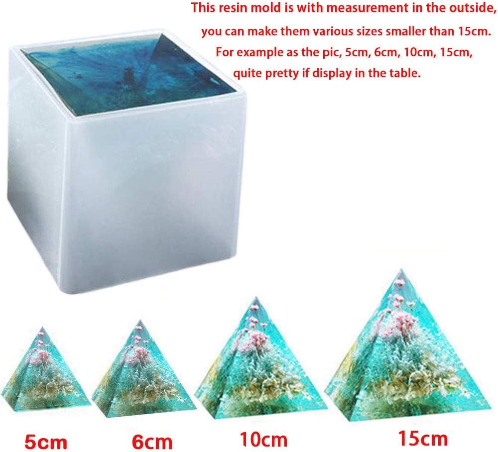 Moldes de resina epoxi transparente para pirámide d