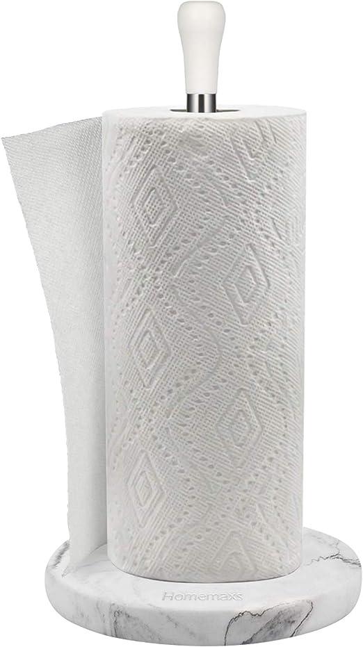 Elegant And Durable Kitchen Paper Towel Holder White Marble Paper Towel Holder