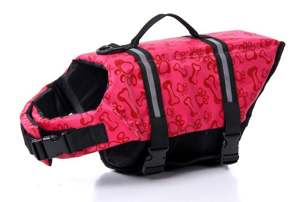 Float Coat Dog Life Jacket Quick Release Easy-Fit Adjustable Dog Life Protecter (XXL, RED)