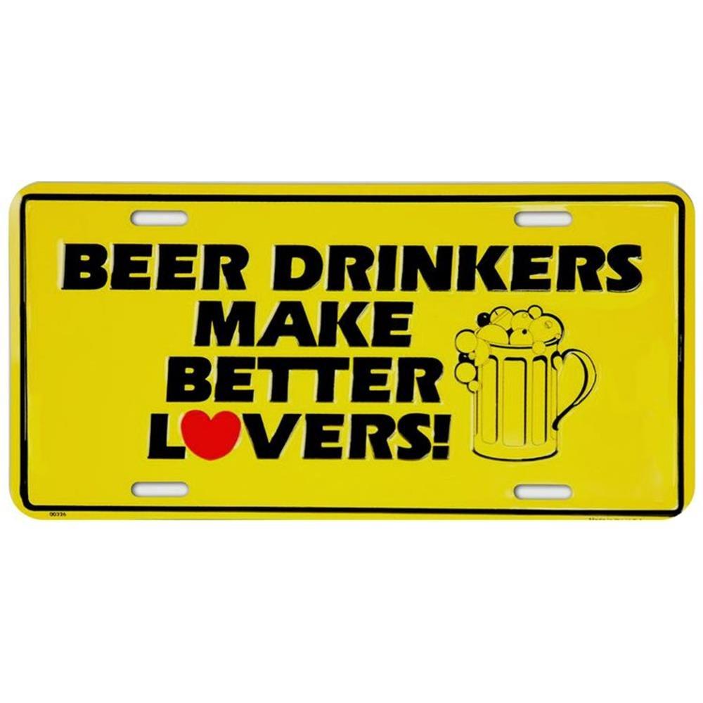 Signs 4 Fun SL326 Beer Drinkers Make License Plate