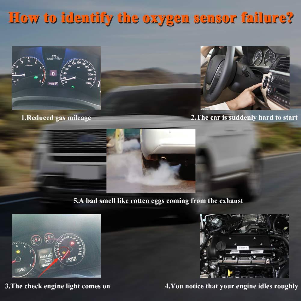 Navigator,Town Car,Escape,Mountaineer,Sable Replaces 15717,1171843 Set of 4 JDMON Compatible with 4Pcs O2 Sensor Oxygen Sensor Ford Mercury Mazda Lincoln F150,E-150,Explorer,Focus,Expedition