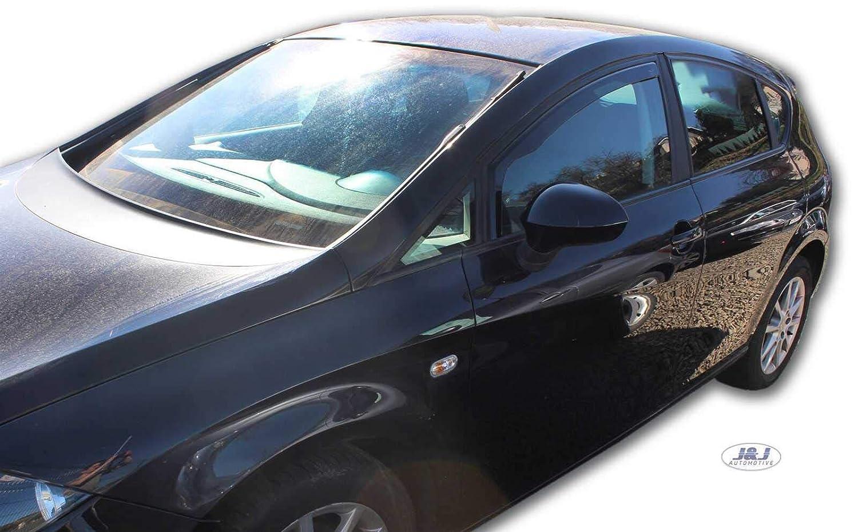 Deflecteurs dair D/éflecteurs de Vent Compatible avec Seat Leon 5 Portes 2006-2012 2pcs J/&J AUTOMOTIVE