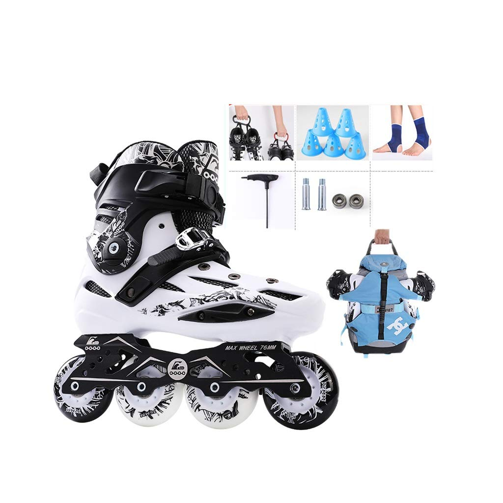 Male and Women Illuminating Wheels Recreational Inline Skates,Fun Flashing Beginner Teen Outdoor with Light Up Wheels Inline Roller Skates Performance Racing Skates Gift to Ladies Youth and Men Teen
