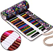 Pencil Wrap Holders, TopRay Canvas Travel Drawing Pencils Roll Up Pouch Case Inserting Hold Students Pen Bag O