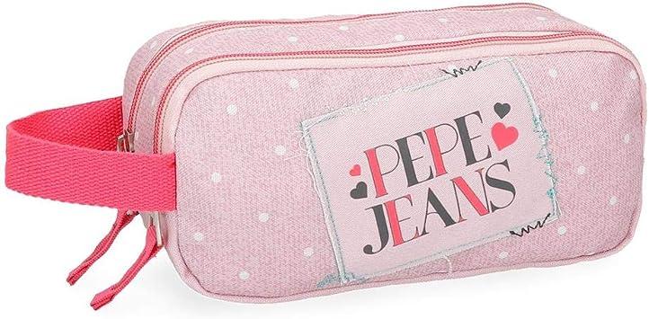 Estuche Pepe Jeans Olaia rosa doble compartimento: Amazon.es: Equipaje