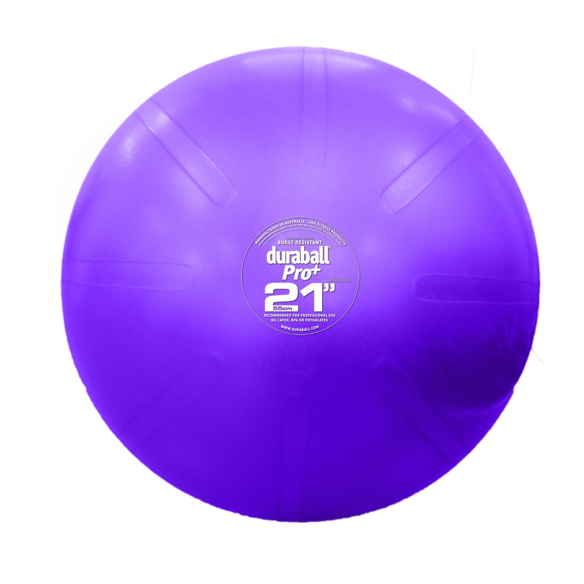 Fitterfirst Duraball Pro Exercise Ball - 21'' - Purple