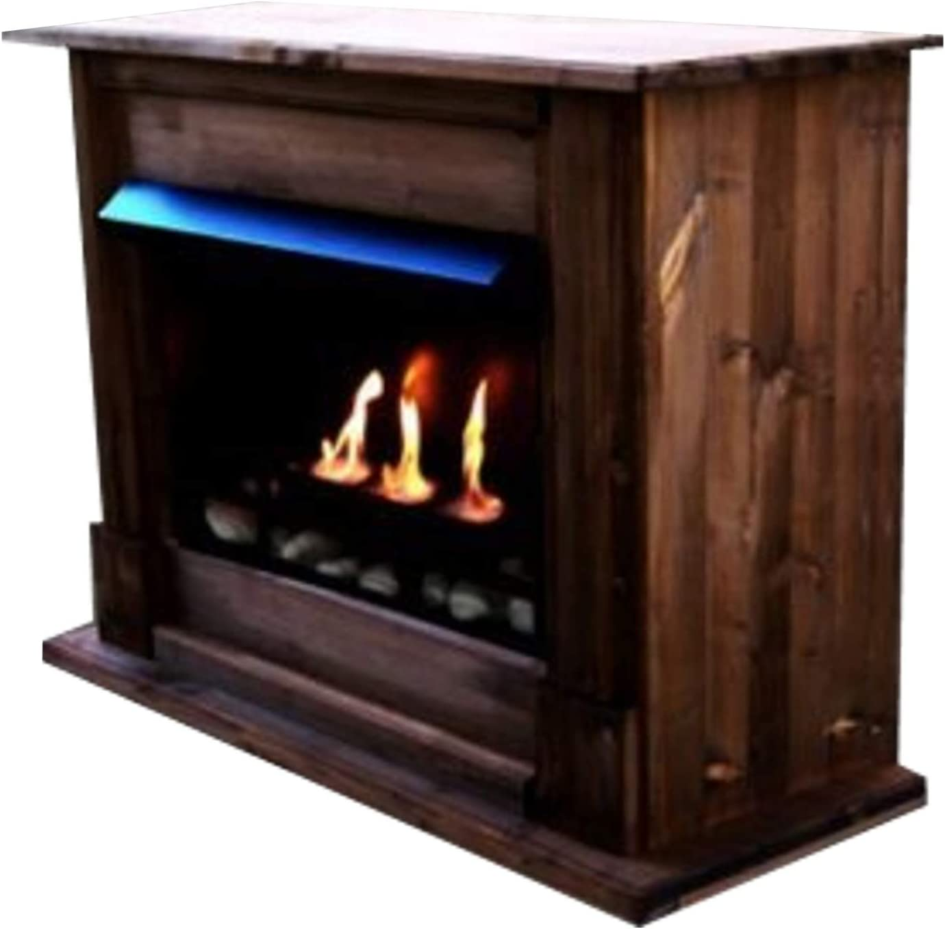 1 Adjustable Stainless-Steel Burner Black Gel Ethanol Fire-Places Emily Deluxe Inclusive