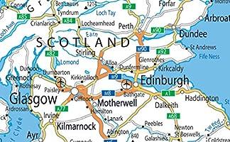 Reino Unido (Reino Unido) Road – Póster de mapa de pared/muestra claramente las autopistas, Major carreteras, ciudades y Towns – Papel laminado – 119 x 84 cm (A0): Amazon.es: Oficina y papelería