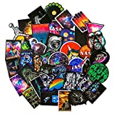 NASA Stickers for Laptop [100PCS] - Space Explorer Galaxy Vinyl Decals for Water Bottle Hydro Flask MacBook Car Bike Bumper Skateboard Luggage - Spaceman Spacecraft Universe Planet Logo Graffiti Sticker