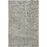 Safavieh Saint Tropez Collection STS641S Hand Woven Silver Polyester Area Rug (5′ x 8′) Review