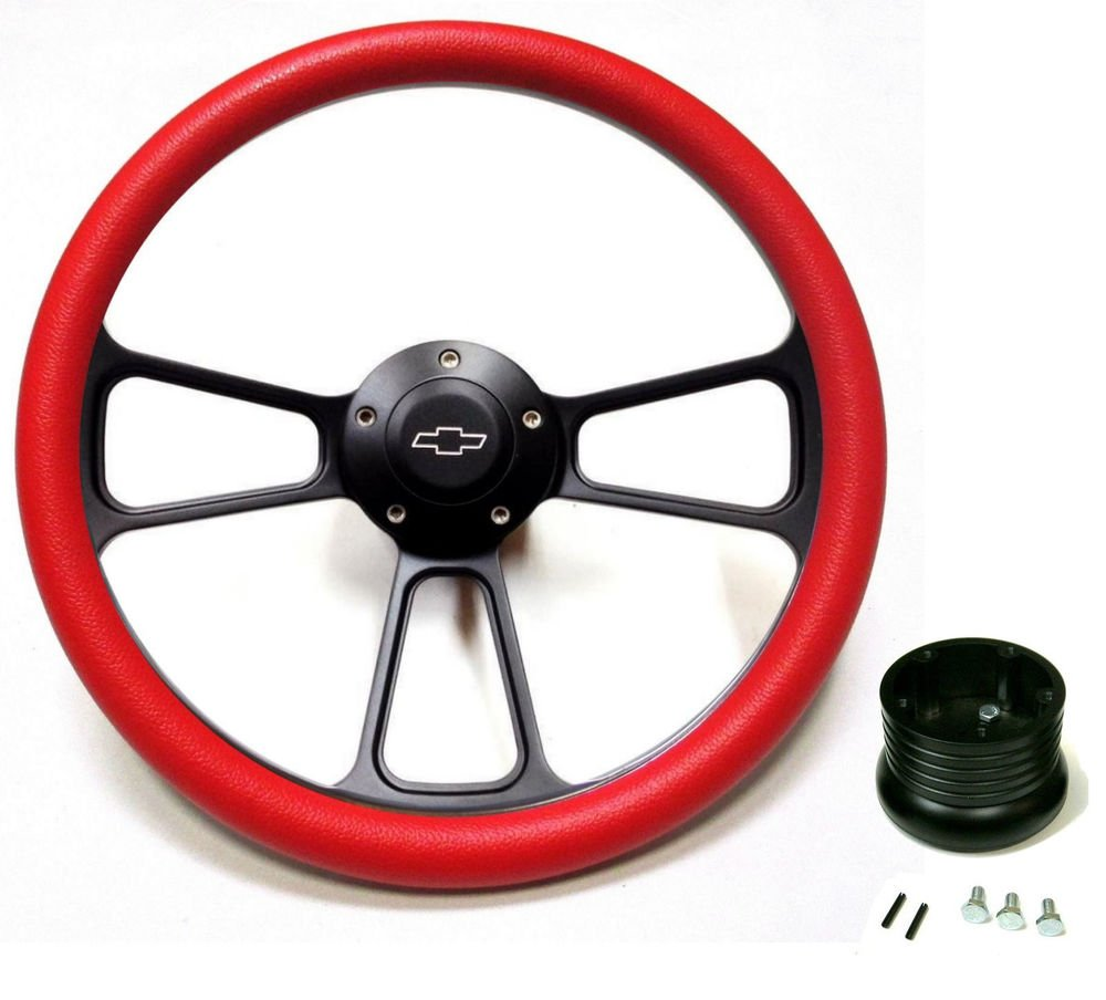 """Che... New World Motoring 1960-1969 Chevy Pick Up Truck 14/"""" Red Steering Wheel"""