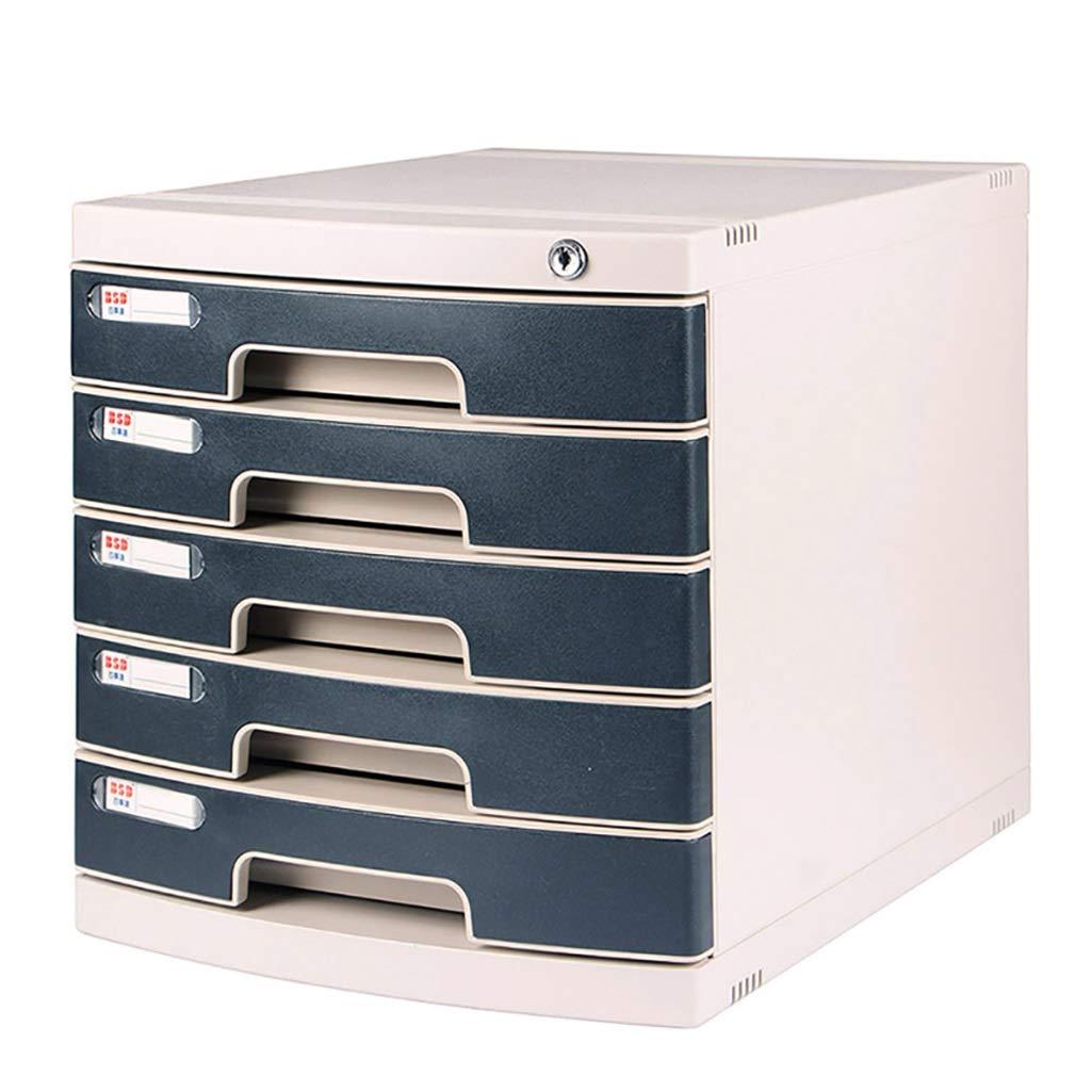 ZHANGLIXIANG WJG Armadi di archivio chiudibili a Chiave di 6 Strati, armadietto di immagazzinamento del documento della Scatola di immagazzinamento di Dati del cassetto di plastica da tavolino