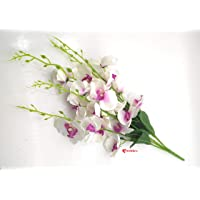 Archies® Artificial Orchid Flower Bunch 5 Sticks for Decoration, Living Room, Bedroom, Balcony, Office, Home décor Set (60 cm Tall)