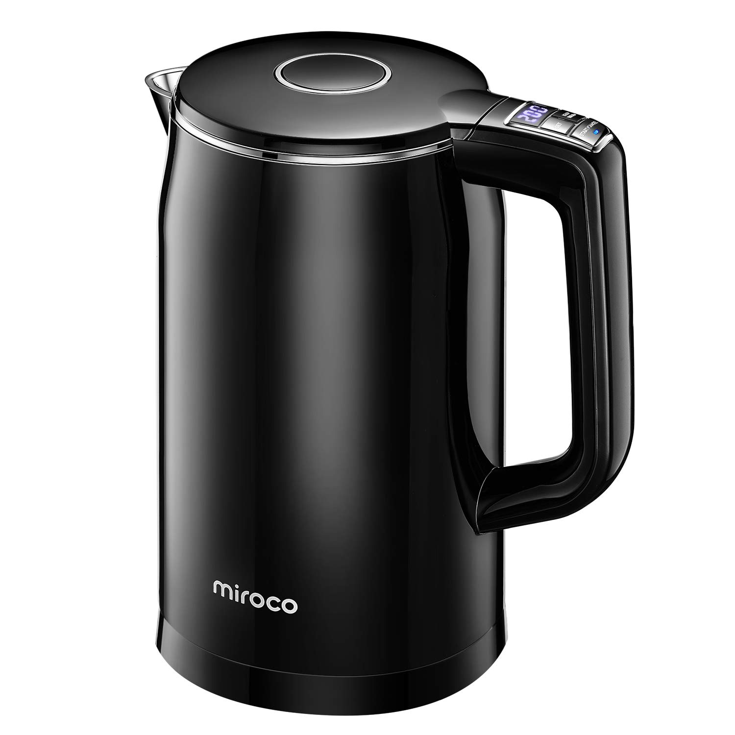 Miroco Electric Kettle Temperature Control 1.7L Double Wall Keep Warm, Anti-scald Tea Kettle 100 Stainless Steel BPA-Free Hot Water Boiler, Auto Shut-Off, Boil-Dry Protection, 1500W Fast Boiling-120V