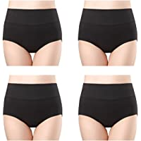 wirarpa Soft Cotton Knickers for Women Full Briefs High Waisted Ladies Pants Underwear Multipack Size 8-32