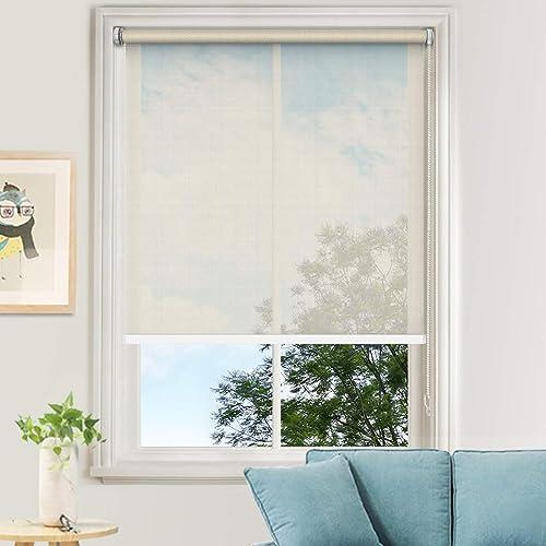 MiLin Window Shades No Tools Light Filtering Roller Shade