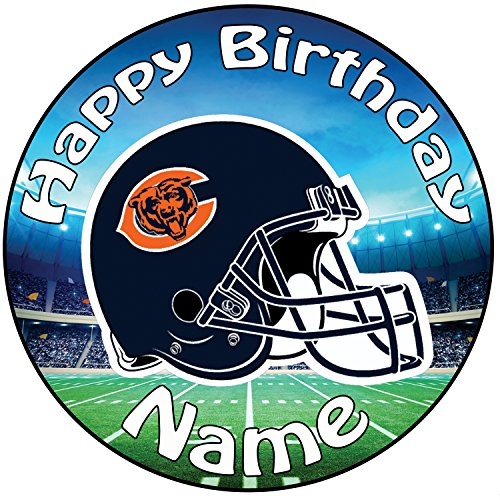 AKGifts Personalised American Football NFL Chicago Bears Icing Cake Topper - 8
