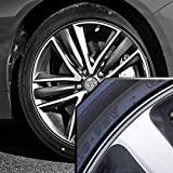 Wheel Bands Silver in Black Pinstripe Edge Trim for Lexus 13-22'' Rims