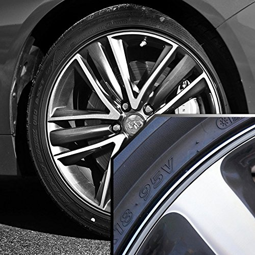 Wheel Bands Silver in Black Pinstripe for Land Rover Discovery 13-22'' Rims by Upgrade Your Auto