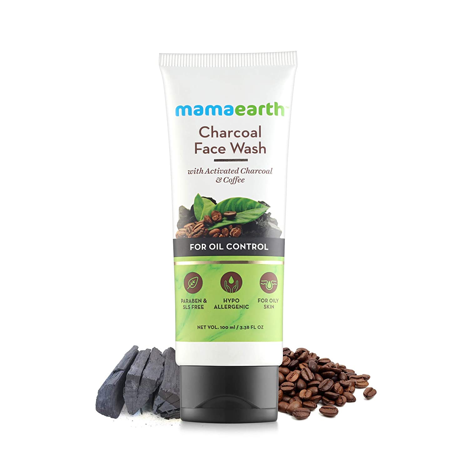 Mamaearth Charcoal Natural Face Wash for oil control and pollution defence - For Oily Skin - SLS & Paraben Free