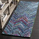 Safavieh Nantucket Collection NAN141C Handmade Blue and Multi Cotton Area Rug, (2-Feet 3-Inch X 5-Feet)