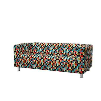 Soferia Replacement Cover for IKEA KLIPPAN 2-seat Sofa, Fabric Mozaik Red