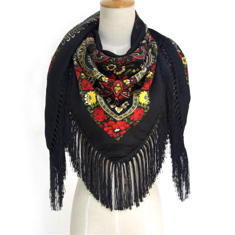 TALLA 135*135cm. AiNaMei Bufanda con flecos cálidos de otoño e invierno para mujer