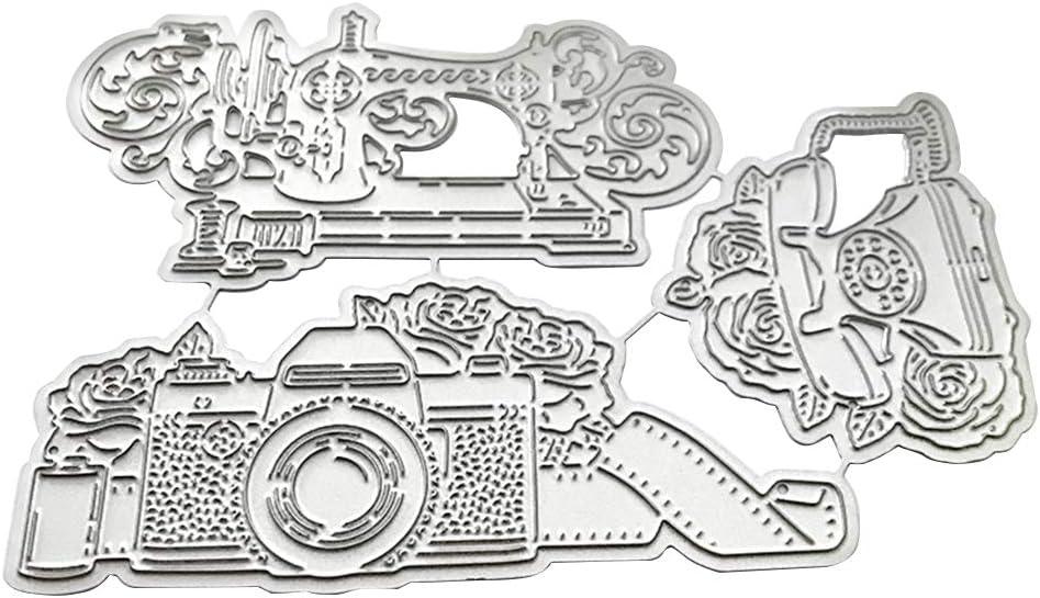 Embossing Stencil for Scrapbooking DIY Album Paper Card Art Craft Decor WuLi77 ❤ Camera Sewing Machine Phone Metal Cutting Dies for Card Making