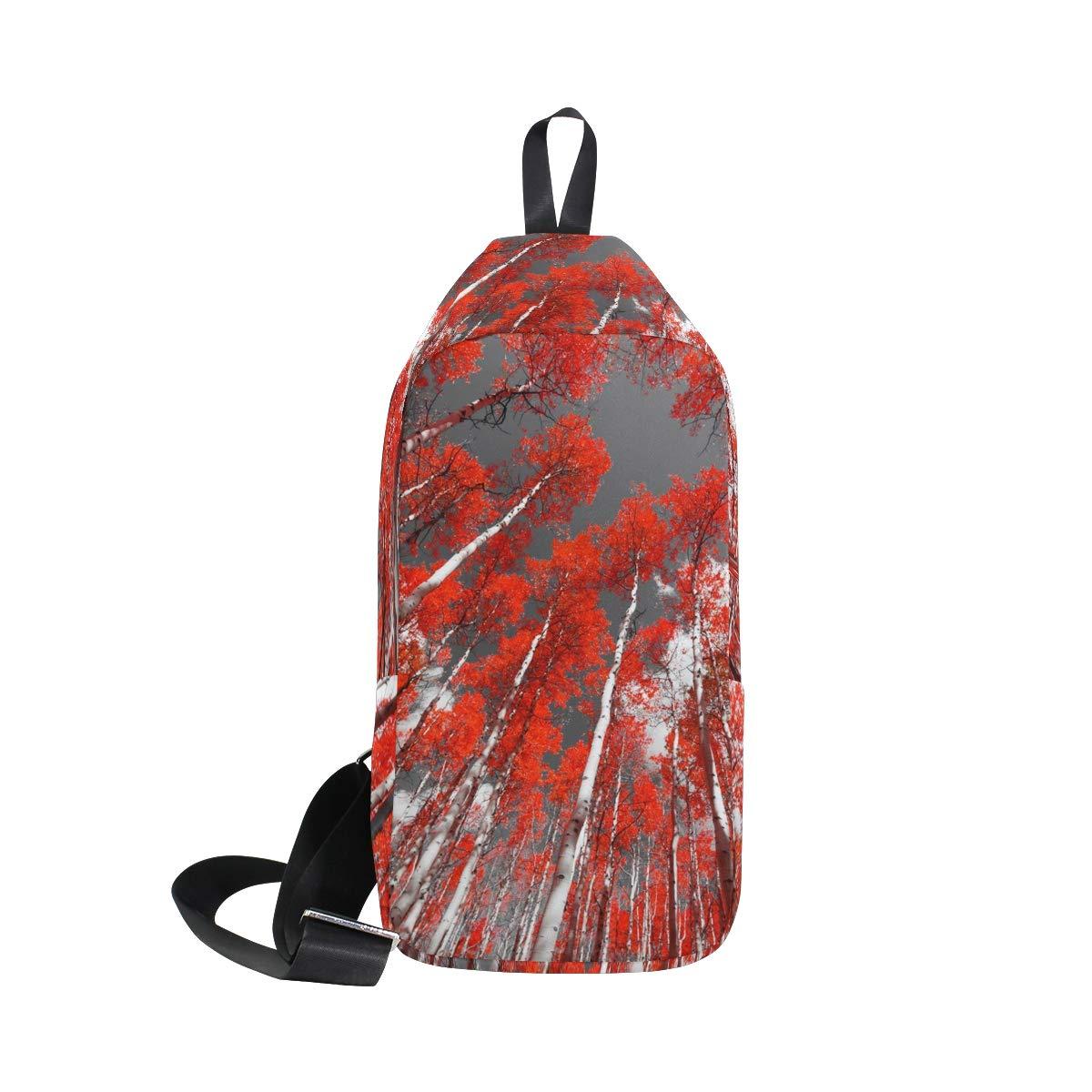 Unisex Messenger Bag Mangrove Forest Sky Shoulder Chest Cross Body Backpack Bag
