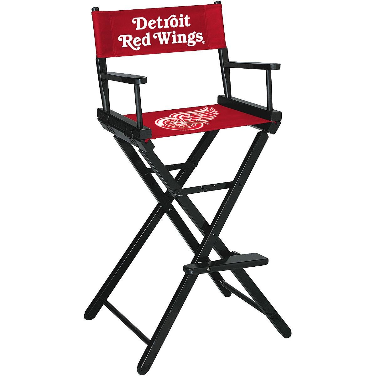 Imperial International Detroit RED Wings Directors Chair-BAR Height