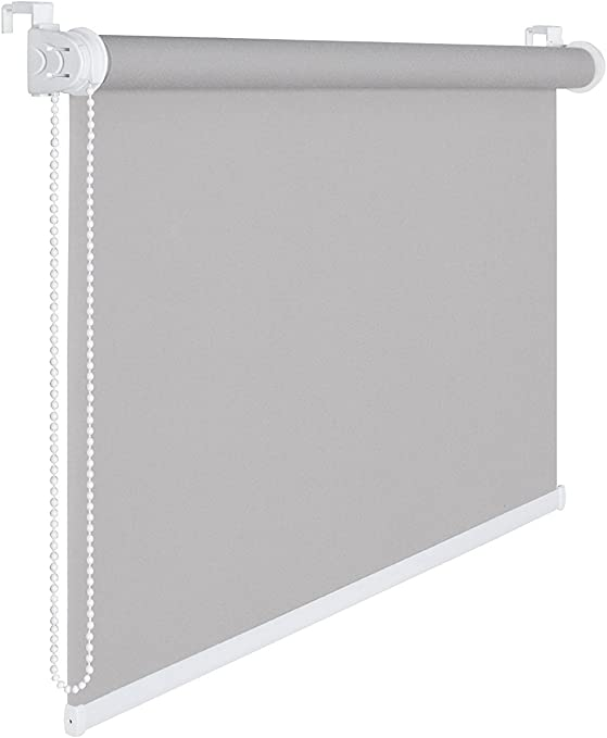 THERMOROLLO sTORE eNROULEUR oCCULTANT gRIS fONC/É 55 x 200 cm sTORE /à 100 /%  aVEC tHERMOBESCHICHUNG aBDUNKLUNG sEILZUGHALTER