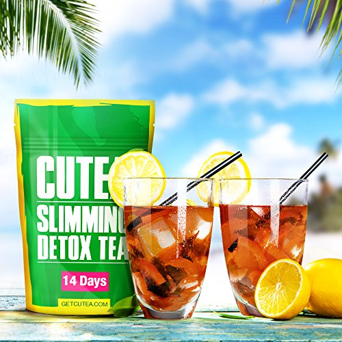 photo Wallpaper of Cutea-CUTEA Natural Weight Loss Detox Tea, 14 Tea Bags: Reduce Bloating, Promote Fat Loss,-