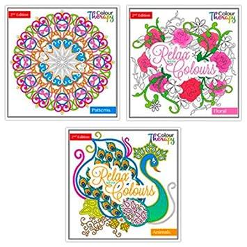 Adultos Libros para Colorear, color terapia diseños - 3 diferentes ...