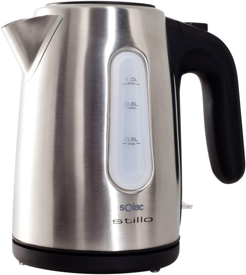 Solac KT 5856 KT5856 Stillo INOX-Hervidor de Agua (Capacidad de 1 L), Color Plateado, 1600 W, 1 Liter, 0 Decibeles: Solac: Amazon.es: Hogar