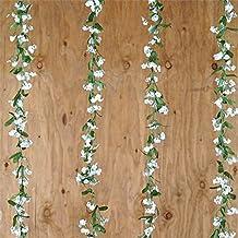 BalsaCircle 36 ft White Baby Breath Garlands - 6 garlands - Wedding Party Centerpieces Arrangements Bouquets