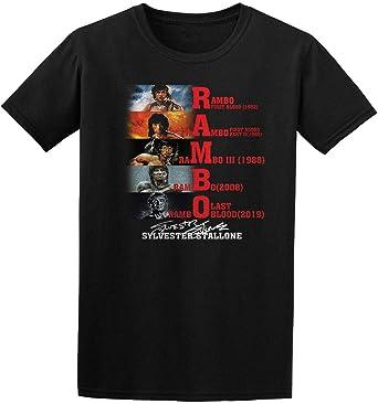 DT Rambo Last Blood Signature - Camiseta para Hombre, diseño de Leyenda de Sylvester Stallone Adeventure Negro Negro (L: Amazon.es: Ropa y accesorios