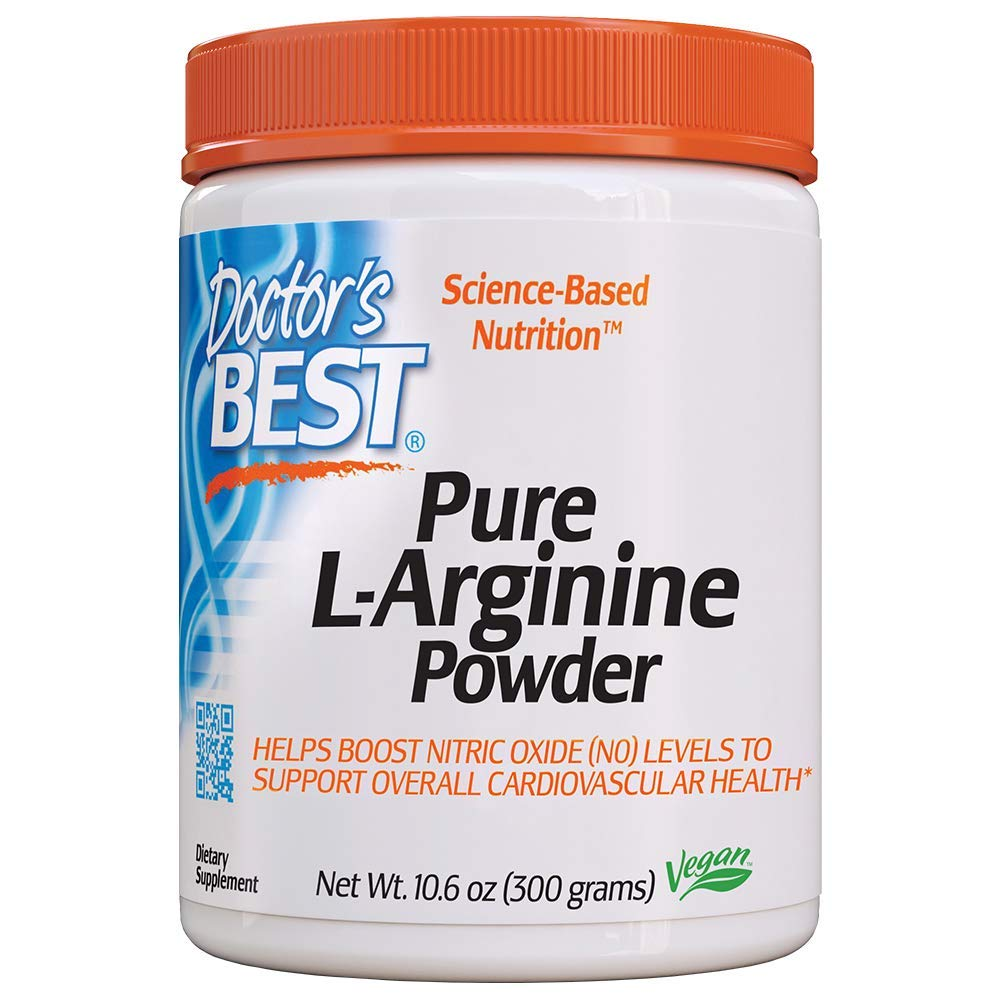 Doctor's Best L-arginine HCL Powder, Non-GMO, Vegan, Gluten Free, Soy Free, Helps Promote Muscle Growth, 300g