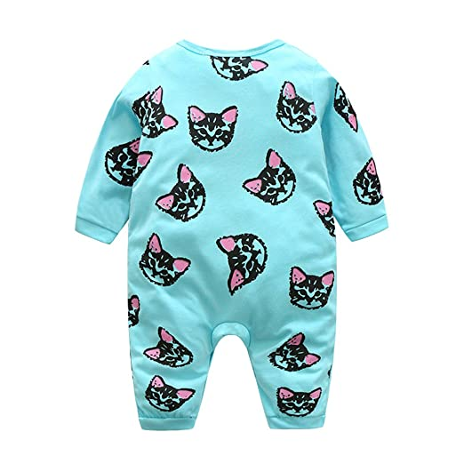 Amazon.com: chinatera Baby Infants Cat Print Long Sleeve Rompers Toddler Kids Jumpsuit Bodysuit: Clothing
