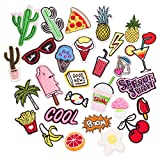 Butie Patch 28pcs Embroidered Patch Sew On/Iron On