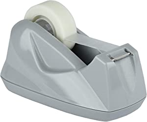 Acrimet Premium Desktop Tape Dispenser Non-Skid Base (Heavy Duty) (Platinum Silver Color)