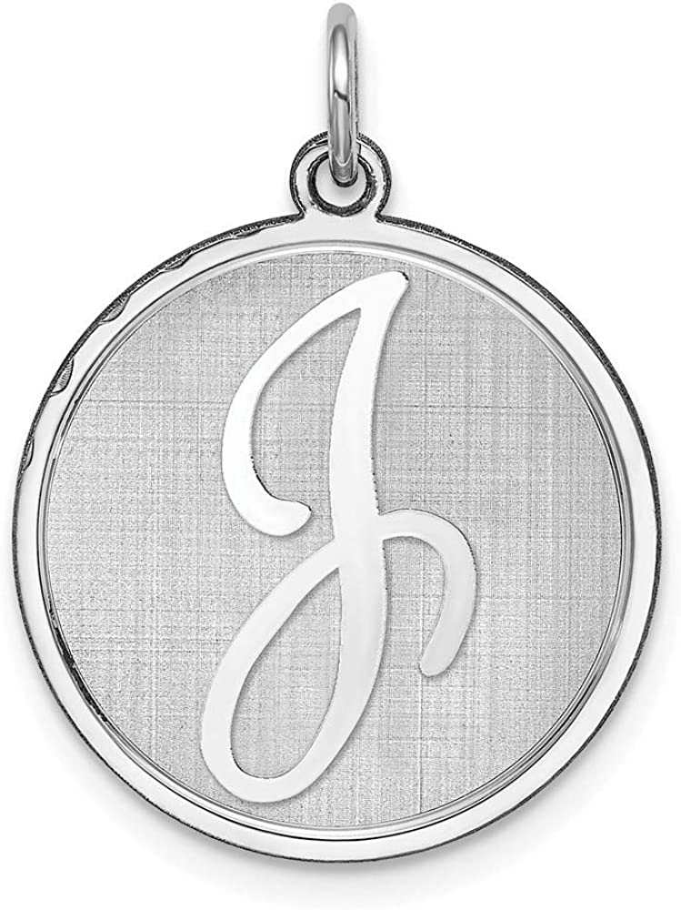 Beautiful Sterling Silver Initial J Charm