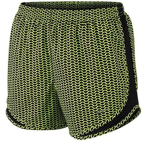 Nike Women's Printed Tempo Running Shorts Bright (Small, Green)