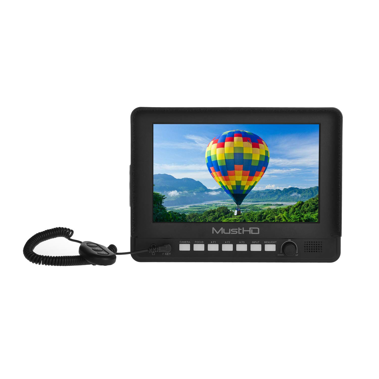 MustHD 7-inch Affordable HDMI On-Camera Field Monitor with Focus Assist/Color Peaking/Sun Hood,Support 1080P (M700H)