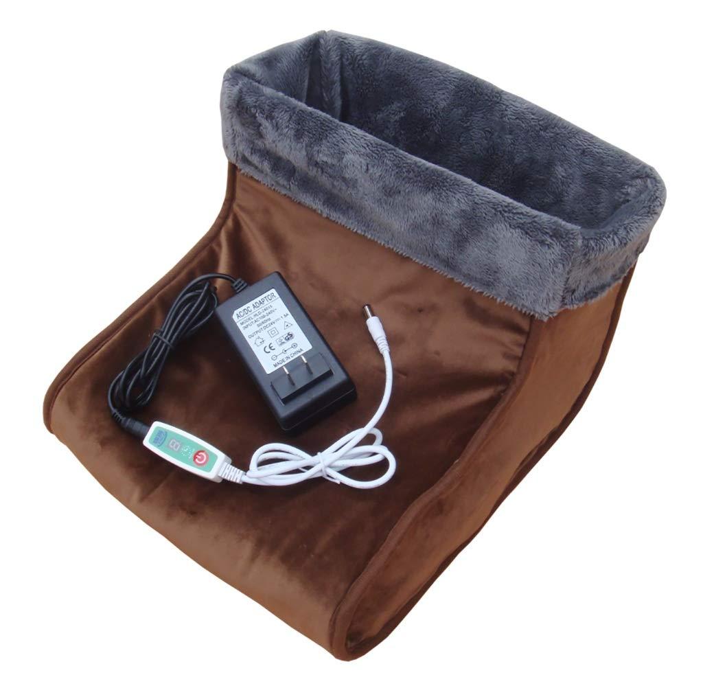 YXWnjb Warmer fußschatz warme Fußschatz, mikrowellengeeignete Hausschuhe, beheizte Hausschuhe, beheizte Schuhe, Herren Schaffell Hausschuhe