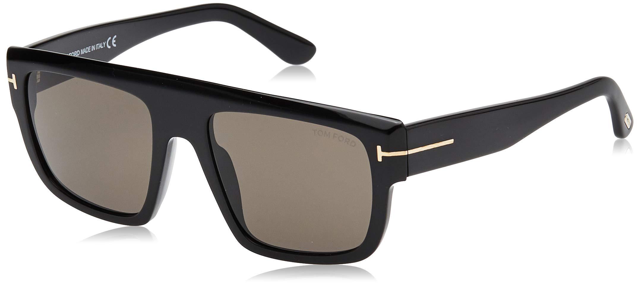 Tom Ford sunglasses Alessio (TF-699 01A) Shiny Black - Grey lenses
