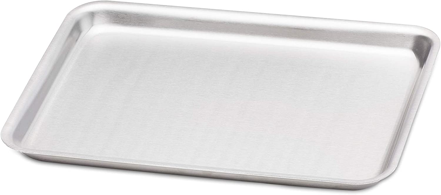 """360 Stainless Steel Jelly Roll Pan, Handcrafted in the USA, 5 Ply, Surgical Grade Stainless Bakeware, Dishwasher Safe, Professional Grade, Use as Baking Pan, Roasting Pan(14""""x10"""")"""